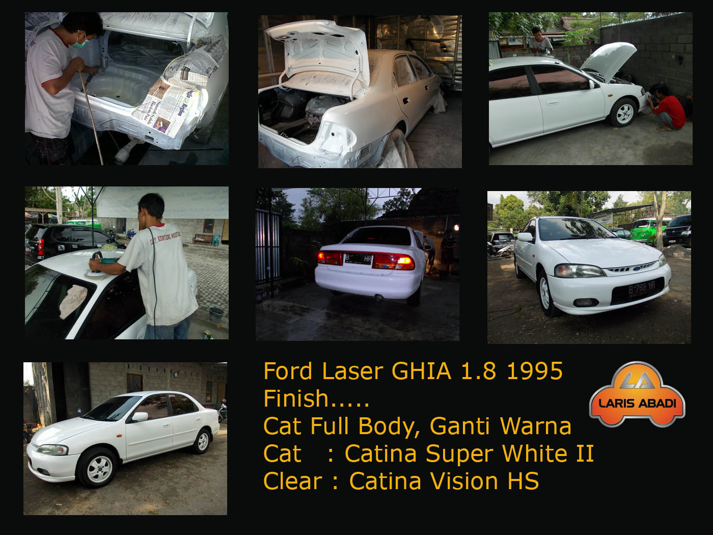 Ford Laser KJ GHIA 1995 Pengecatan Ulang - Laris Abadi