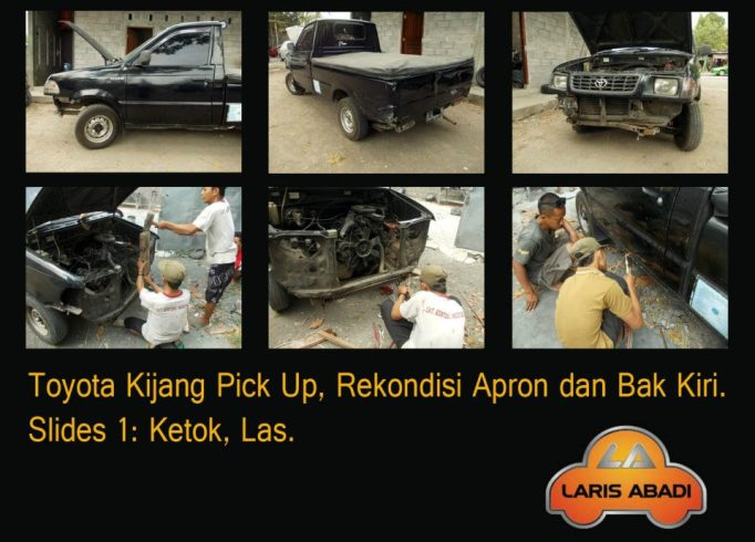 Kijang Pick Up tabrakan