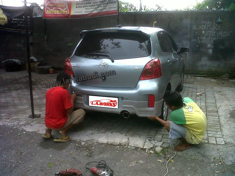 Toyota Yaris 2013 Bodykit Fitting Painting Laris Abadi
